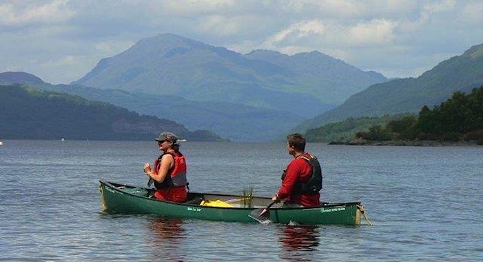 canoeing loch lomond image